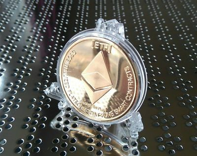 Digital Currency Novelty Collectable Ethereum Gold Coin