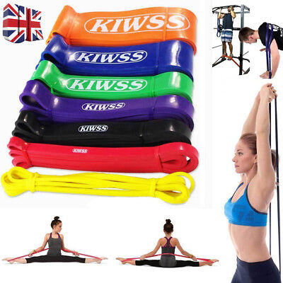 Pull Up Heavy Duty Resistance Band Loop Power Fitness Exercise YOGA Workout UK