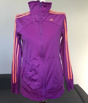 Adidas Jacke Trainingsjacke Damen Größe 36 S lila orange
