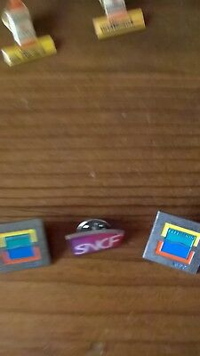 Lot de 3 pin's SNCF
