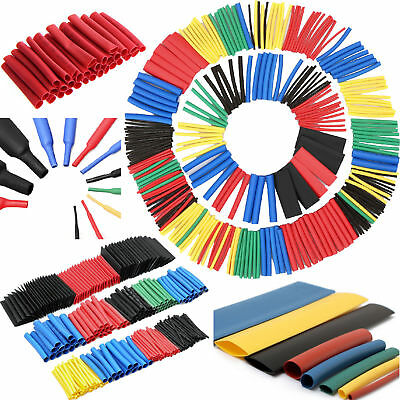 144Pcs Assorted Electrical Cable Heat Shrink Tube Tubing Wrap Sleeve Kit C8 K3G2