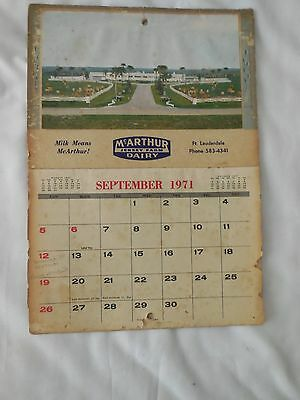 Got Milk? Vintage 1971 Mcarthur Dairy Advertising Calendar Nice