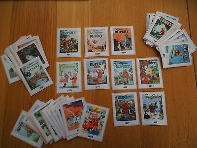 VERY UNIQUE COLLECTION RUPERT BEAR VISUAL AIDS x 81 YEARLY ANNUALS 1936 - 2016