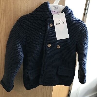 Marks & Spencer Baby Jacket 3-6 Months In Navy Brand New
