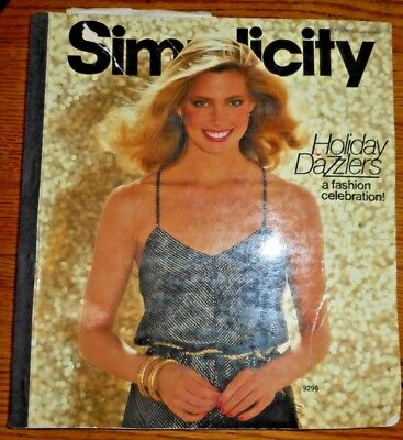 Vintage 1979 SIMPLICITY Sewing Pattern COUNTER CATALOG BOOK~HOLIDAY DAZZLERS !!