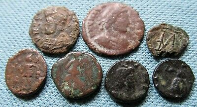 Lot of 7 Small & Tiny Ancient Coins to ID - Roman Byzantine?  Etc Unknown
