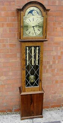 VINTAGE GRANDFATHER CLOCK with CHIMES & MOON PHASE by FENCLOCKS in vgc