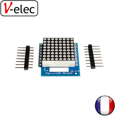 1384# Matrix LED Shield V1.0.0 for WEMOS D1 mini