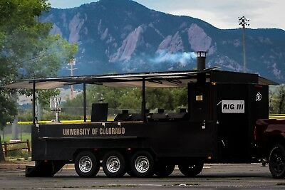 Badass Big Rig III BBQ, Smoker, Grill, Trailer Custom Built by BBQ by Klose
