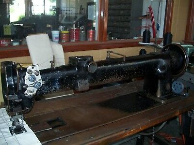 SINGER 40WSV40 LONG Arm Walking Foot Double Needle Industrial Adorable Singer Walking Foot Industrial Sewing Machine