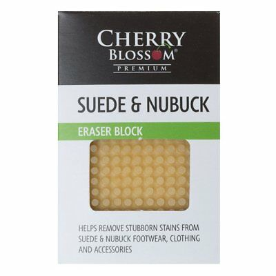 New MENS CHERRY BLOSSOM NATURAL SUEDE AND NUBUCK ERASER BLOCK RUBBER BRUSHES