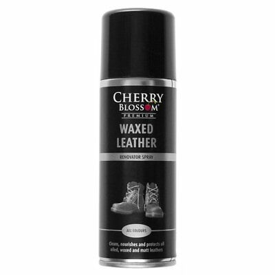 New MENS CHERRY BLOSSOM NATURAL WAXED LEATHER PROTECTOR AEROSOL SPRAYS