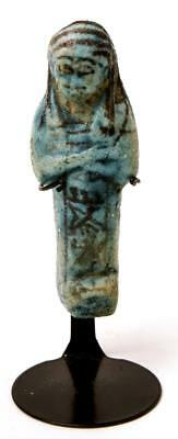 Ancient Egyptian Blue Faience Ushabti 18th Dynasty c.1549-1189 BC.