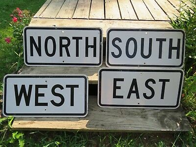 Real Road Signs North South East West