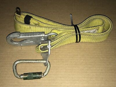 Buckingham Safety Belt Pole Climbing Yellow Strap/Lanyard