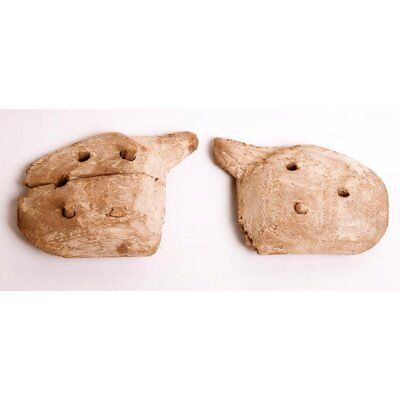 A Pair of Ancient Egyptian Wood Hands c.664-332 BC.