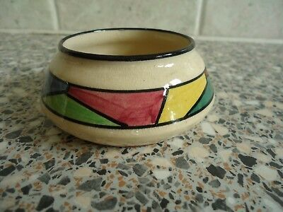 Small Studio Pottery Bowl With Abstract Multi Coloured Pattern,
