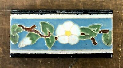 Malibu Floral Trim Stretcher Tile California/Blue