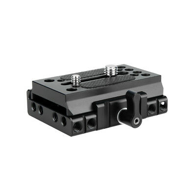 NICEYRIG Quick Release Manfrotto Standard Base Plate Clamp for Camera 15mm Rail