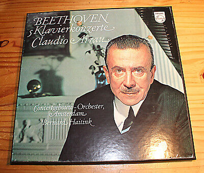 ARRAU HAITINK Beethoven The 5 Piano Concertos 5-LP-Box Philips LY