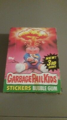 1986 Garbage Pail Kids Series 3 box with 48 sealed packs. Gum from Canada