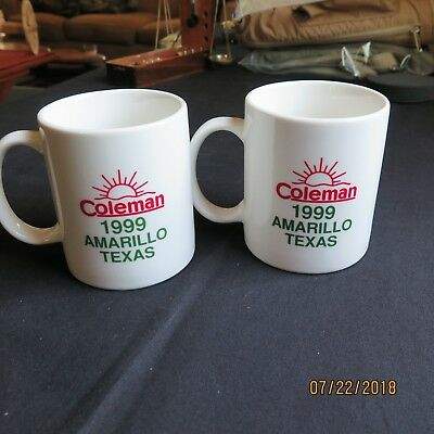 Two Coleman Mugs from 1999 ICCC AmarilloTexas Meeting.  Lamp Lantern