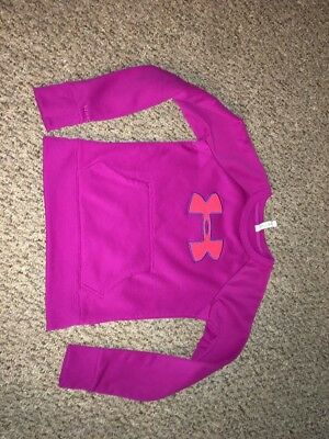 Under Armour Storm Big Logo Crew Neck Sweatshirt Ladies XS Pink Hoodie like