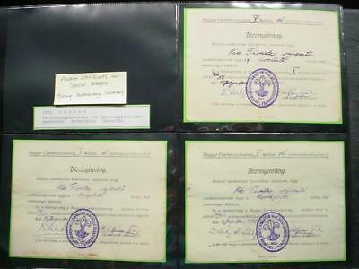 NobleSpirit NO RESERVE (GC4) Exciting 1932 Hungary Scouts Award Certificates 3x!