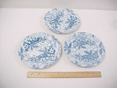 3 Spode Blue Room Grapes Salad Plates 7-1/2 inches