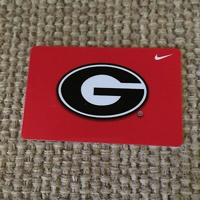 NIKE Georgia Bulldogs Gift Card Collectible NEW  No Value