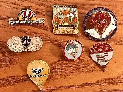 Collectible Hot Air Balloon & International Balloon Festival Tack Pins Lot of 7