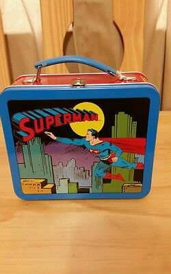 School days lunch box with 1950 Superman