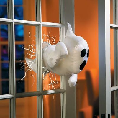 Outdoor Halloween Decoration Haunted House Scary Prop Window Crasher White Ghost
