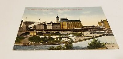 Early View (1917) St. Anthony Falls & Part of Milling District - Minneapolis, MN
