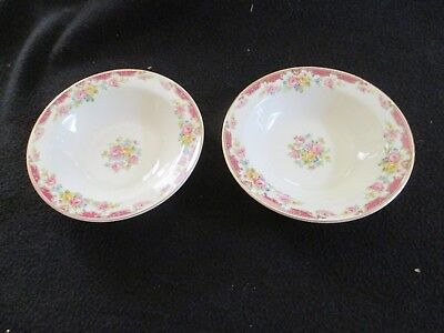 """Vintage Edwin Knowles China 5.25"""" Lido Berry Bowl Lot Of 2"""