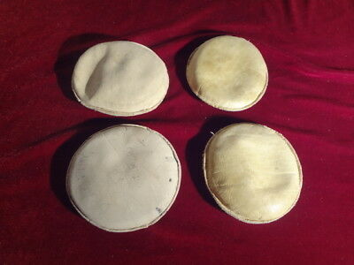 4 VINTAGE LEATHER DRAFTING or MAP WEIGHTS