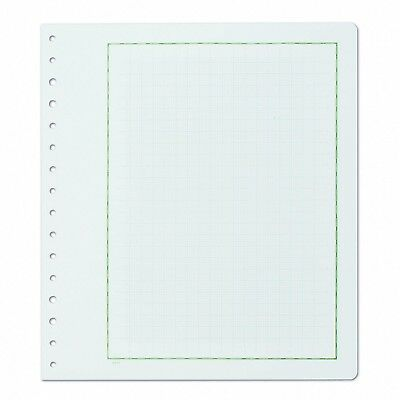Pack 10 KaBe Blank Sheets Album Pages With Green Borderline & Grid Underlay #23
