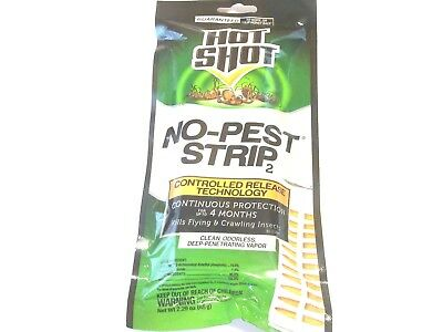 Brand New Hot Shot No Pest Strip For Bed Bugs Spider Mites Fly Repellent