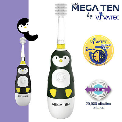 MEGA TEN KIDS SONIC_ TOOTHBRUSH (PENGUIN) + 1pc jack n' jill banana toothpaste