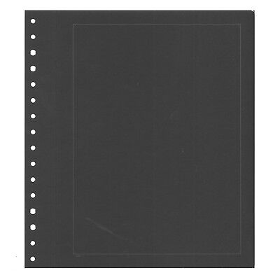 Pack 10 KaBe Blank Sheets Extra Strong Album Page in Black With Borderline  #44