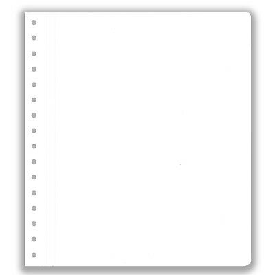 Pack of 10 KaBe Blank Sheets Extra Strong Album Page Linen Hinge Unprinted #50