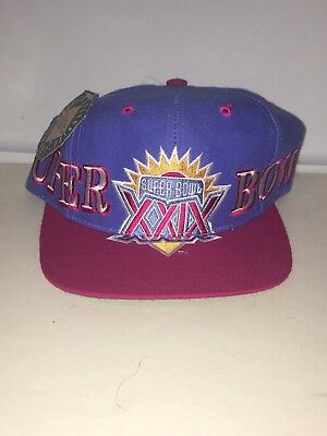 Vtg Super Bowl XXIX Snapback Hat Cap The Game San Francisco 49ers New NWT 0b5bb20f5