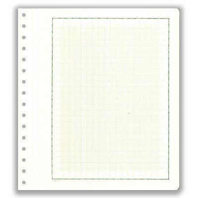 Pack 10 KaBe Blank Sheets Extra Strong Linen Hinge Green Borderline With Grid#53