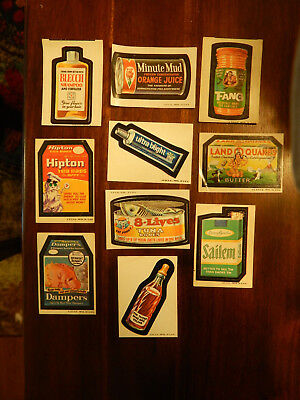 Wacky Packages Pack Lot 10 Trading Cards Vintage Topps Stickers 1970's