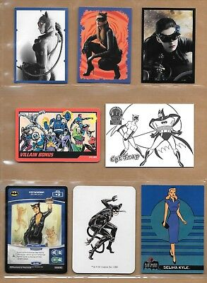 Catwoman, Selina Kyle, DC card and sticker lot