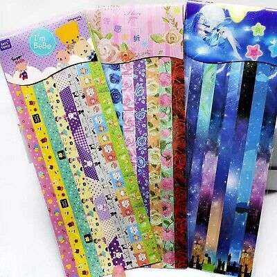 240 Strips Lovely Folding Paper Lucky Wish Star Cute Origami Paper Scrapbook