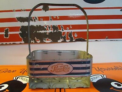 Vintage Nice Pepsi Cola Metal Crate * Carrier