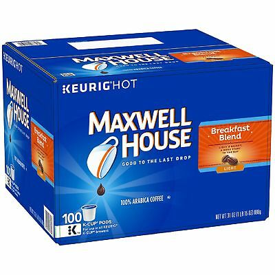 Maxwell House Breakfast Blend Coffee (100 K-Cups)-FREE SHIPPING
