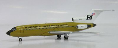 "Inflight Braniff ""ochra Jellybean"" 727-100 1:200 Scale Diecast Metal Model"