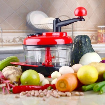 Multifunction Food Processor Kitchen Manual Vegetables Chopper Cutter Mixer AU